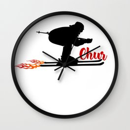 Ski speeding at Chur Wall Clock