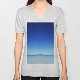 Beach and Sky Unisex V-Neck