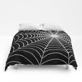 Spiderweb   Silver Glitter Comforters