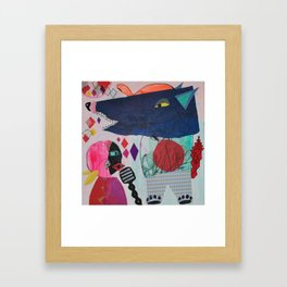 Little red riding hood and the dancing wolf Framed Art Print