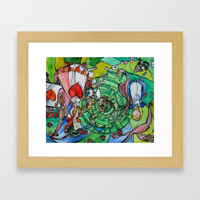 Alice and the Queen Framed Art Print