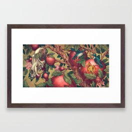 Ragged Wood Framed Art Print