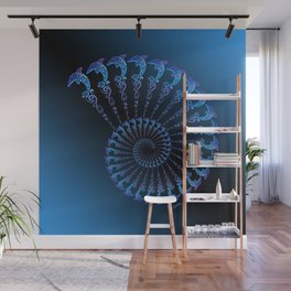 Tribal Dolphin Spiral Shell Wall Mural