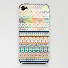 Blue Orange Andes Abstract Aztec Pattern Fashion watercolors iPhone & iPod Skin