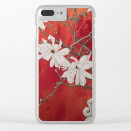 Red Spring Clear iPhone Case