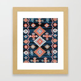 Traditional Mmoroccan Carpet Design Framed Art Print