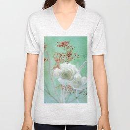Pastell Flowers Unisex V-Neck
