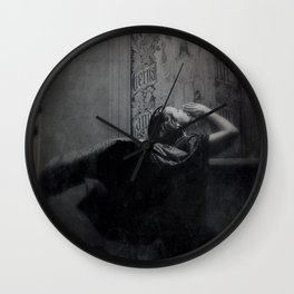 Slytherin Inspired Gothic Dark Angel Black and White Wall Clock