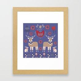 Scandinavian Winter Pattern #society6 #buyart Framed Art Print