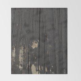 Black Wood Throw Blanket