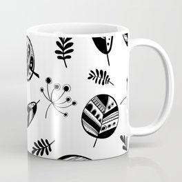 Graphical fall of the leaves Coffee Mug