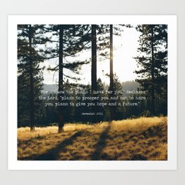Golden Jeremiah 29:11 Art Print