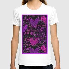 Kiss Me, Miss Me Purple T-shirt