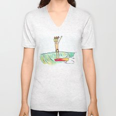 hang 10 surf dude Unisex V-Neck