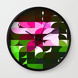 Rosas Moradas 2 Abstract Circles 1 Wall Clock