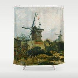 Vincent van Gogh - Windmills on Montmartre Shower Curtain