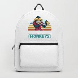 Apes Monkey Gorilla Wildlife Animals Gift I Love Monkeys Backpack