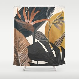 Abstract Tropical Art III Shower Curtain