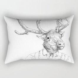 Hipster deer Rectangular Pillow