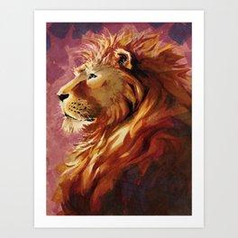 Proud lion Art Print