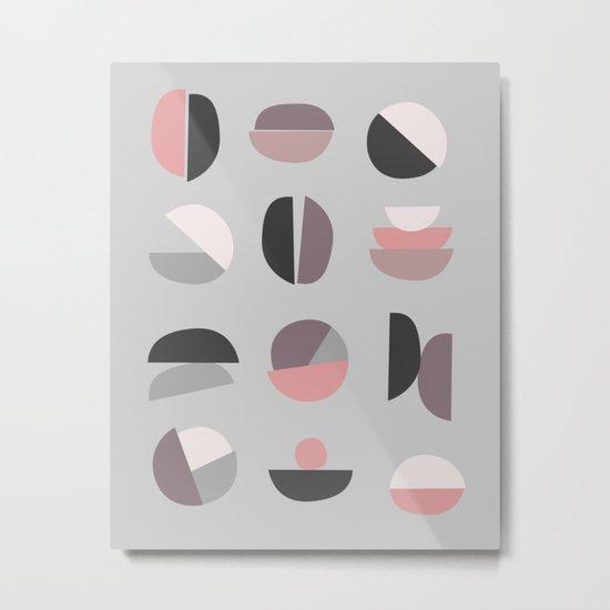 Pastel Geometry 4 Metal Print