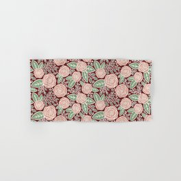Pink roses Modern Floral Hand & Bath Towel