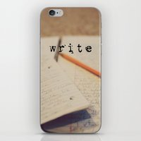 write iPhone & iPod Skins featuring write by KimberosePhotography