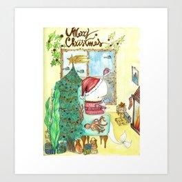 Moby's Christmas Art Print