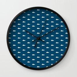 Tiny Subs - Navy Wall Clock