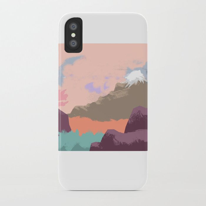 Pink Sky Mountain iPhone Case