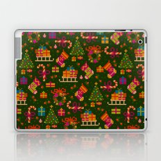christmas x-stitch pattern for the holiday mood Laptop & iPad Skin