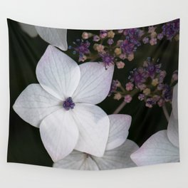 Purple and Blue Hydrangea Wall Tapestry