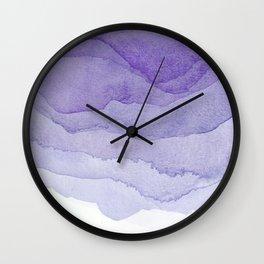 Lavender Flow Wall Clock