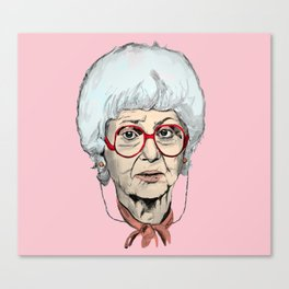 Sophia Petrillo from The Golden Girls (Pink) Canvas Print