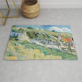 Thatched Cottages and Houses by Vincent van Gogh Rug