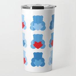 Cute blue Love teddies Travel Mug