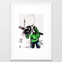 Samulnori  Framed Art Print
