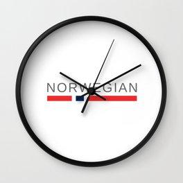 Norwegian Norway Wall Clock