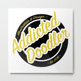 Logo - Black & Gold Metal Print