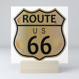 Old Route 66 Highway Sign Mini Art Print