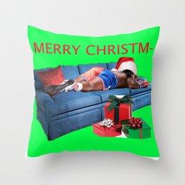 Slump( Merry Christm-) Throw Pillow