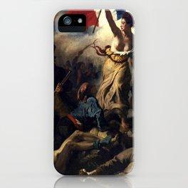 Delacroix – La liberté guidant le peuple-Liberty Leading the People-La Libertad guiando al pueblo iPhone Case