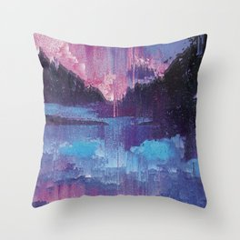 Glitched Landscapes Collection #4 Throw Pillow