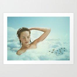 Taking A Bath Art Print
