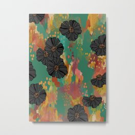 Black Zinnia Metal Print