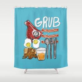 GRUB!  Shower Curtain