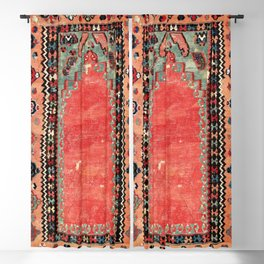 Sivas  Antique Cappadocian Turkish Niche Kilim Print Blackout Curtain