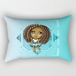 Adorable African American Girl Rectangular Pillow