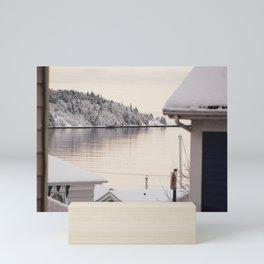 peering around corners Mini Art Print