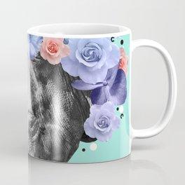 Floral Rhino Coffee Mug